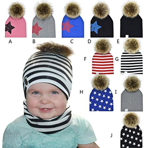 Baby Beanie, Misaky Boys Girls Hat Fox Cotton Hat Child Knitting Caps (# A)