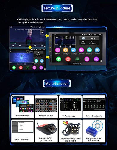 JOYING Head Unit 7 inch PX5 Octa-core 2GB Ram 32GB Rom Double Din Universal  Car Stereo with iPhone Zlink & Phone Mirroring Function Android 6 0 GPS