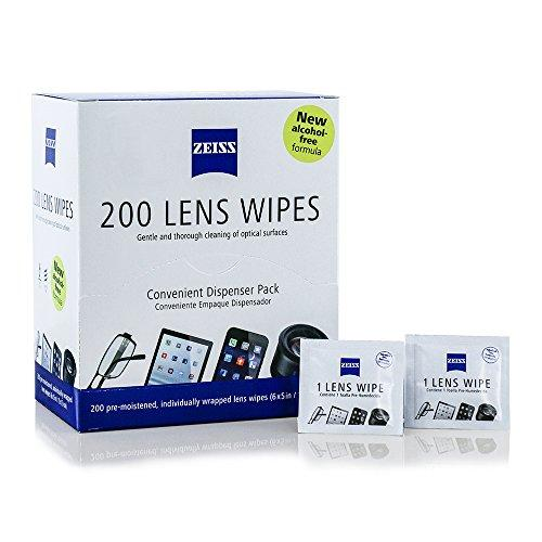 Zeiss Pre-Moistened Lens Cleaning Wipes [2016 New Alcohol Free Formula]-  Cleans Bacteria Germs without Streaks for Eyeglasses Sunglasses iPhone