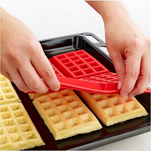LN Shop Waffle Makers for Kids Silicone Cake Mould Waffle Mould Silicone Bakeware Set Nonstick Silicone Baking Mold Set