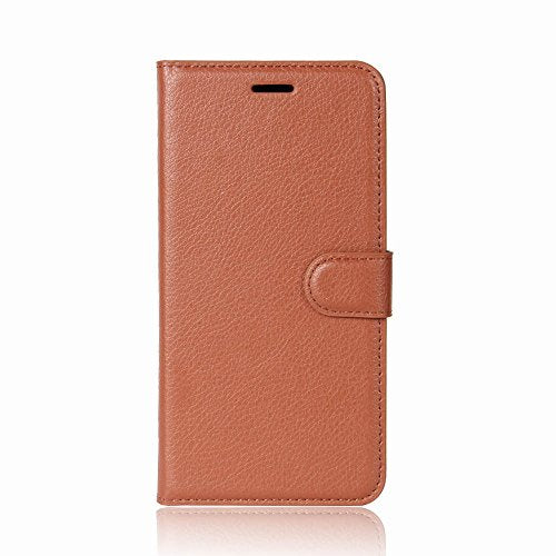 Skuleer(TM) For Samsung Note8 Dual Sim N950 Case Wallet Leather Protect Phone Shell Flip Cover For Samsung Galaxy Note 8 SM-N950F TPU [Brown]