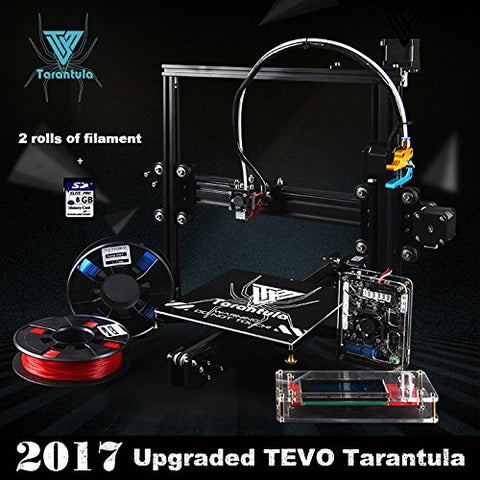 TEVO Tarantula I3 Aluminium Extrusion 3D Printer kit+3d printing 2 Rolls Filament 8GB SD card LCD As Gift(Auto and Large Plate)