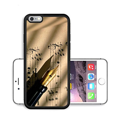 MSD Premium Apple iPhone 6/6S Plus Aluminum Backplate Bumper Snap Case IMAGE 2817935 Detail of 100 year old grungy sheet music with vintage fountain pen