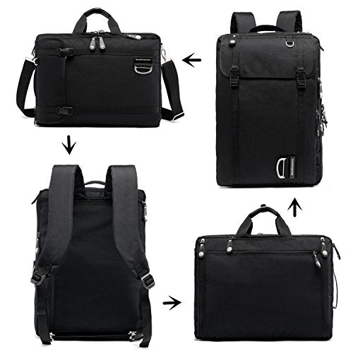 "NUMANNI 17"" Laptop Briefcase Backpack,Business bags for men ,travel bags for men,Convertible Waterproof Business Slim Daypack Travel Computer Handbag for Men & Women"