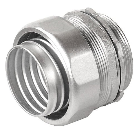 1-1/2 Inch Malleable Iron Liquid Tight Straight Connector With Insulated Throat