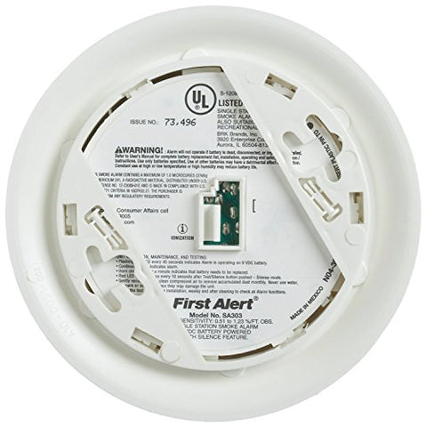 First Alert SA305CN Smoke Alarm with Long Life Lithium Battery