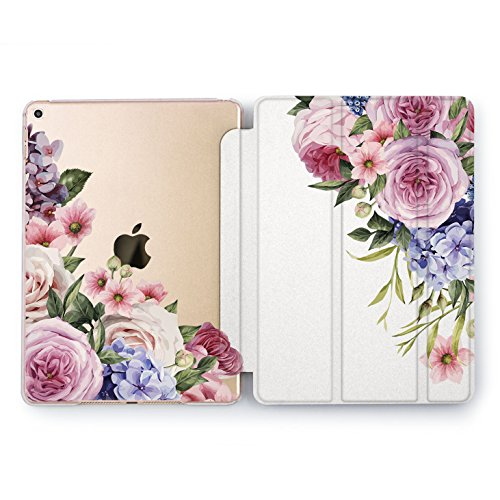 Wonder Wild iPad Cover Pro 9.7 inch Rose Gold Flowers mini 1 2 3 4 Blue Floral Crown Print Air 2 10.5 12.9 Apple Smart Case Hard Stand 5th 6th Generation Pink Peony Design 2017 2018 Wreath Cute Pretty