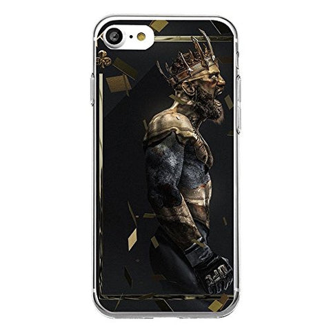 iPhone 7 Plus/8 Plus Case Irish Kickboxer Gold King Protective TPU Soft Silicone Ultra Thin Cover (04)
