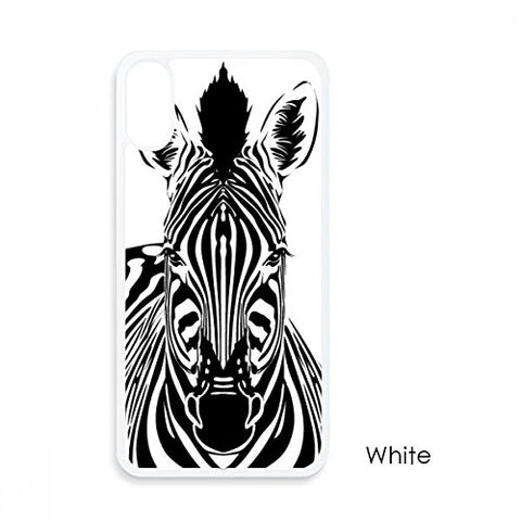 Single Simple Zebra Animal For iPhone X Cases White Phonecase Apple Cover Case Gift
