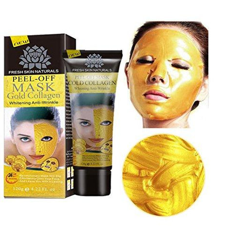 Vanvler Nutrition New Gold Collagen Facial Face Mask High Moisture Anti Aging Remove Wrinkle Care Wrapped Mask (Yellow)