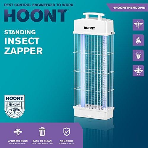 Hoont Standing Electric Indoor Outdoor Fly Zapper and Bug Zapper Trap  Catcher Killer with UV – Protects 6,000 Sq  Ft  / Bug and Fly Killer,  Insect