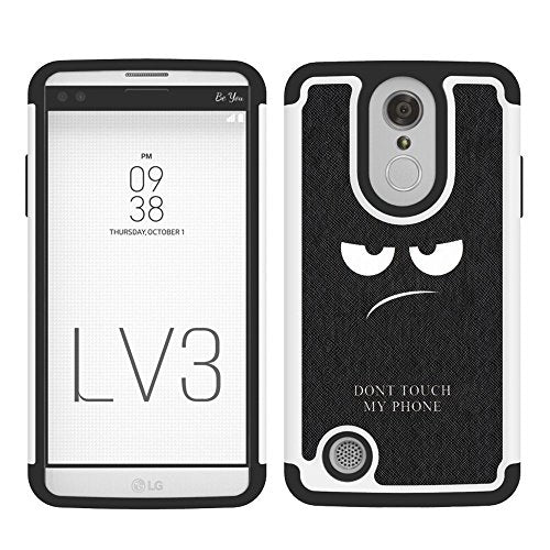 LG Fortune Case, LG Phoenix 3 Case, LG Rebel 2 Case, LG Risio 2 Case, LEEGU  [Shock Absorption] Dual Layer Heavy Duty Protective Silicone Plastic Cover