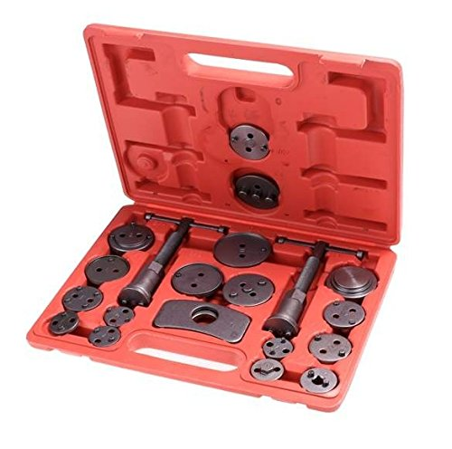 Universal Heavy Duty Disc Brake Piston Caliper Compressor Tool Set and Wind Back Kit for Brake Pad Replacement -21 piece