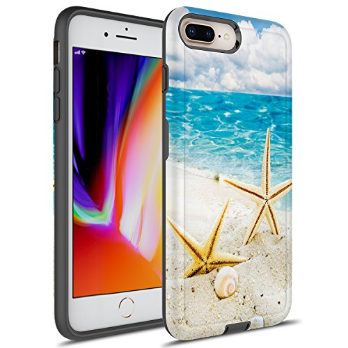 online retailer 56020 266b5 iPhone 7 Plus Case, iPhone 8 Plus Case, Rosebono Hybrid Dual Layer  Shockproof Hard Cover Graphic Fashion Cute Colorful Silicone Skin Case for  iPhone 7 ...