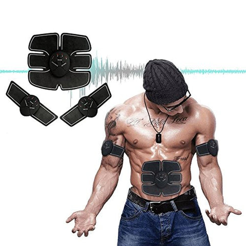 Tenkey Muscle Toner, Abdominal Toning Belt, Abs Trainer Wireless Body Gym Workout Home Office Fitness Equipment For Abdomen/Arm/Leg Training
