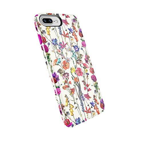 reputable site 08607 e8587 Speck Products Presidio Inked Case, iPhone 8 Plus Case/iPhone 7 Plus  Case/iPhone 6S Plus/6 Plus Case, Whiteflowers/Lipstick Pink