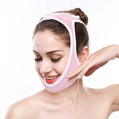 Facial Slimming Face Bandages slimming mask Reducer and Anti-wrinkle Gill facial care skin compact V-line(M)