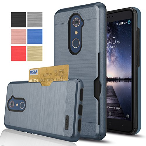 the best attitude 214d0 0ec9c ZTE ZMAX Pro Case,ZTE Imperial Max Z963U/Kirk Z988/Max Duo LTE/ZTE Grand X  Max 2 Wallet Case,AnoKe[Card Slots Holder]Plastic TPU Shockproof Heavy Duty  ...