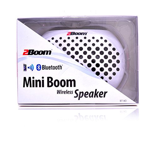 2BOOM Mini Boom Portable Mini Bluetooth iPod Wireless Speaker White