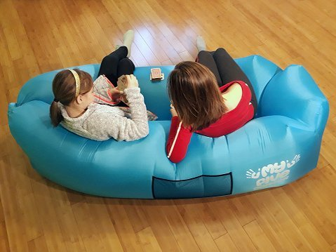 Inflatable Portable Lounger Air Sofa Hammock u2013 Blow - up Lounge Chair With Carry Bag - & Inflatable Portable Lounger Air Sofa Hammock u2013 Blow - up Lounge ...