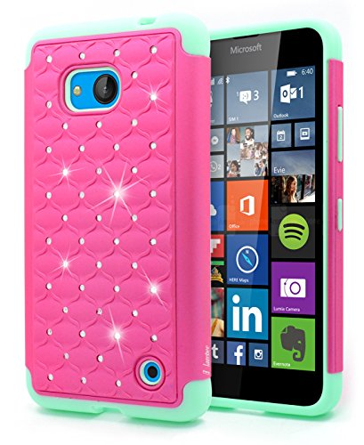 info for 982ce 859f0 Lumia 640 Case, Lumia 640 LTE Case, NageBee [Hybrid Protective] Armor Soft  Silicone Cover with [Studded Rhinestone Bling] Design Diamond Hard Case for  ...