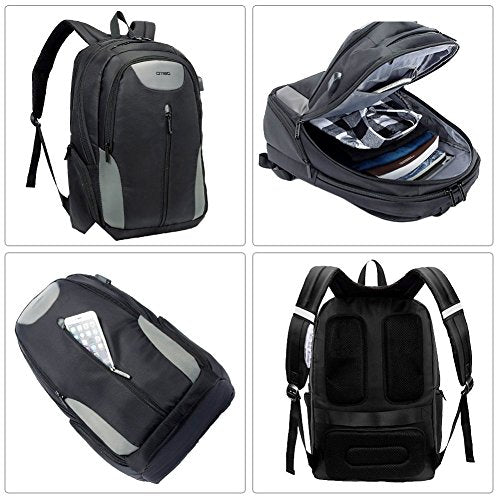 5391a1a77b1a DTBG 17.3 Inch Laptop Backpack Travel Backpack Water-Resistant Professional  Business Backpack School Bookbag With USB Charging Port Hiking Daypack For  ...