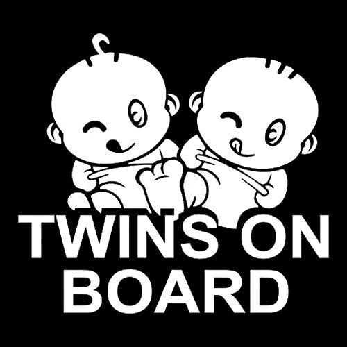Exterior Accessories - Reflective Baby Board Child Twin - 15x14cm Twins On Board Warning Reflective Car Stickers Auto Truck Vehicle Motorcycle Decal - Reflective Baby On Board - 1PCs