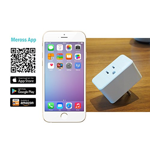 meross WiFi Smart Plug Mini, Alexa and Google Voice Control, Occupies Only  One Socket,App Remote Control Devices from Anywhere,No Hub Needed,,FCC and