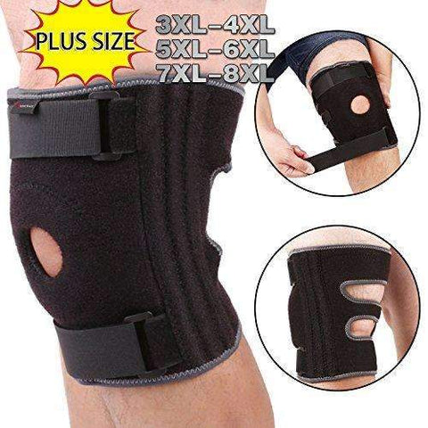 6XL-8XL Knee Brace for Plus Size, Wrap around to Fit Large Legs, Stabilizer Provide Strong Support for Pain Relief, ACL, MCL, Meniscus Tear, Arthritis, Jogging and Athletes by JointBrace (7XL - 8XL)