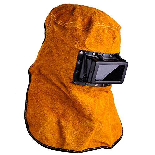 Solar Auto Darkening Filter Lens Welder Leather Hood Welding Helmet Mask New