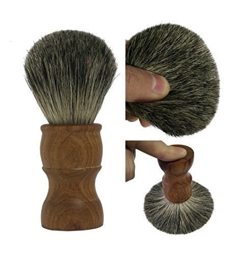 Shaving Brush, QSH 100% top Quality Silvertip Badger Hair with Pure handmade Rosewood Material Handle Luxury Facial Care Tools for Safety Razor, Double Edge Razor, Shaving Razor