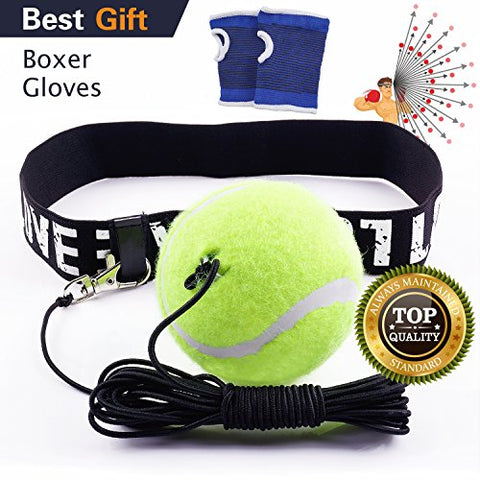 GKCI Boxing Reflex Ball, Boxing Fight Ball with Headband for Boxer Reflex Training to improve Reactions and Speed, Boxing Gym Equipment for Both Training and Fitness