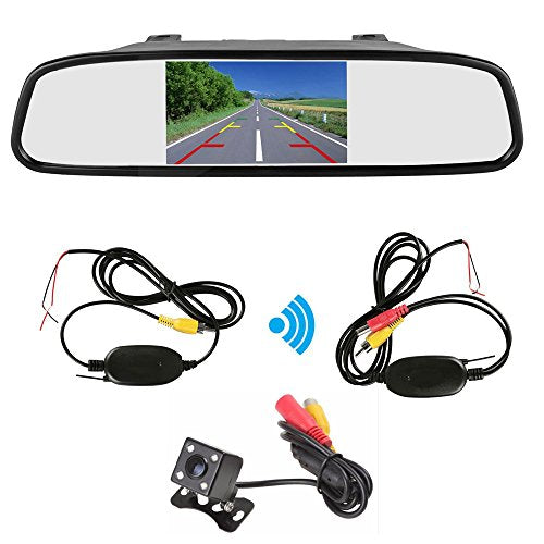Wireless Car 4.3 inch TFT LCD Screen Car Monitor Display for 4 LED Rear view Reverse Backup Camera Car TV Display