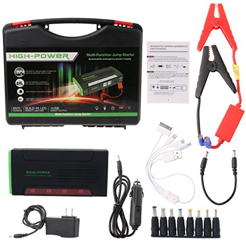 yournameI Car Emergency Power Charger, Portable Mini 68000mAh 12V Car Jump Starter Booster Power Bank Battery Charger