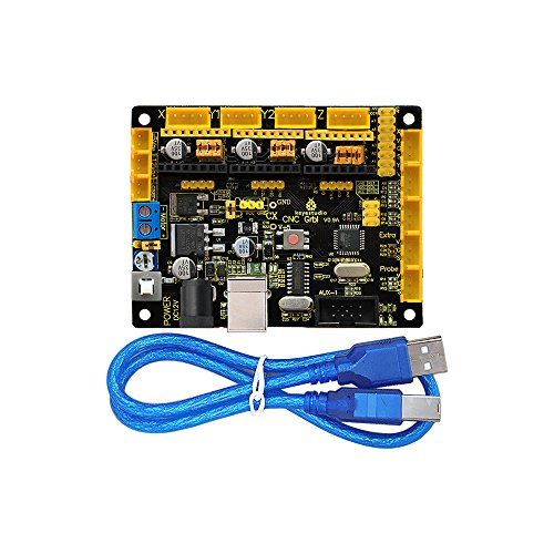 keyestudio Grbl Cnc Controller Board with Usb Cable, Diy Cnc Grbl V0 9  Microcontroller for Laser Cutters, Automatic Hand Writers, Hole Drillers,