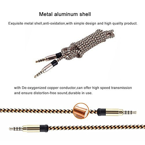 Audio Aux Cable SLL 3 5mm Auxiliary Headphone Cable for Phones, Headphones  Cable for Car / Home Stereos, Speakers, Tablets, PCs, MP3 Players and More