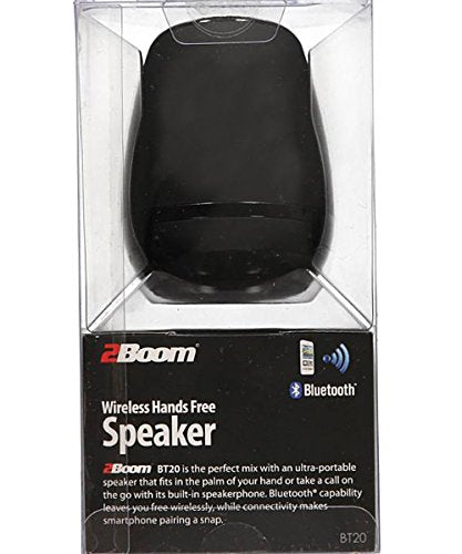2BOOM Mini Rubberized Portable Bluetooth Speaker Hands Free Black