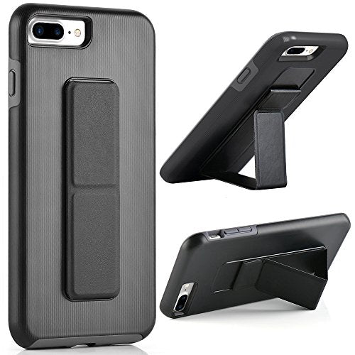 timeless design 2c8d7 a2768 iPhone 8 Plus Case, iPhone 7 Plus Case, ZVE iPhone 7 Plus Kickstand Case  Dual Layer Protective Non Slip Shockproof Cover with Foldable Stand for ...