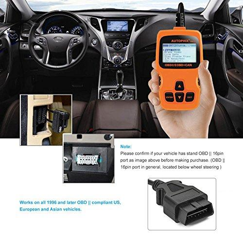 Tektree Universal OBD II Scanner Car Engine Fault Code Reader OM123 CAN  Diagnostic Scan Tool, Read and Clear Error Codes for Newer OBD2 Protocol