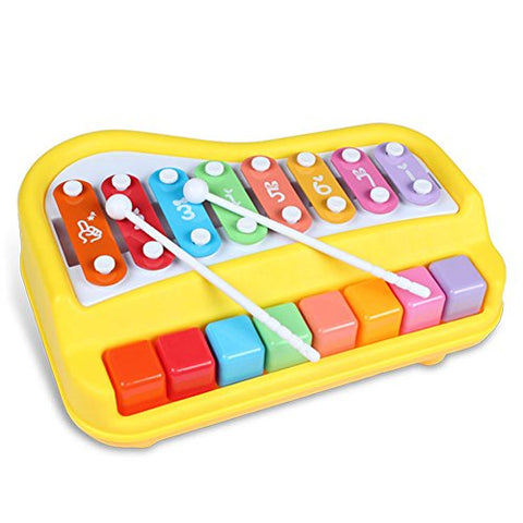 Puremood Piano Xylophone for Children Educational Musical Instruments with 8 Key Scales
