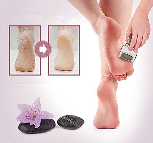 Wired Use electric pedicure tool foot Care Tool Professional Pedicure waterproof Regular Coarse ,Skin Remover Skin Care Feet Dead Cleansing Exfoliating With LED Rechargeable+ + 1 Roller Heads(Gold)