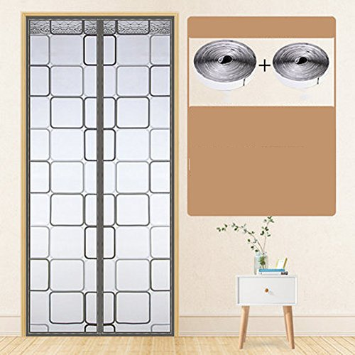 Zanzariera Summer magnetic screen door Air conditioning curtains Magnetic sreen door white Pet friendly sentry screen-D 85x210cm(33x83inch)