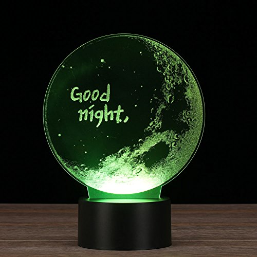Crenye Good Night 3D Night Light Touch 7 Colors Change Table Desk LED Lamp  For Childrenu0027s
