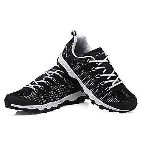 VENSHINE Mens Womens Trail Running Shoes Lightweight Knit Outdoor Walking Hiking Shoes Fashion Sneakers