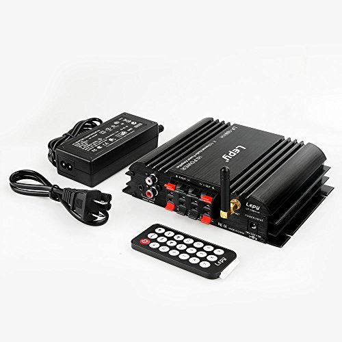 Mini Stereo USB Bluetooth Power Amplifier 2 1 Channel Hi-Fi Audio Amplifier  for Home Car Motorcycle Boat Tablet PC Laptops, 2 x 45W & 68W, USB/