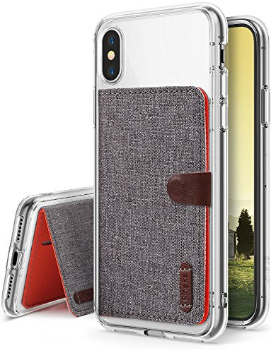 outlet store a105f 4ac61 Apple iPhone X Case, [Value Accessory Kit 2 in 1] Ringke FUSION Crystal  Clear [Flip Card Holder] Ergonomic Transparent PC Back TPU Bumper Drop ...