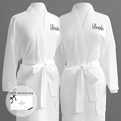 Luxor Linens - His and Hers Waffle Weave Robe  (2 PCS ) - Perfect ... 0ffce1290