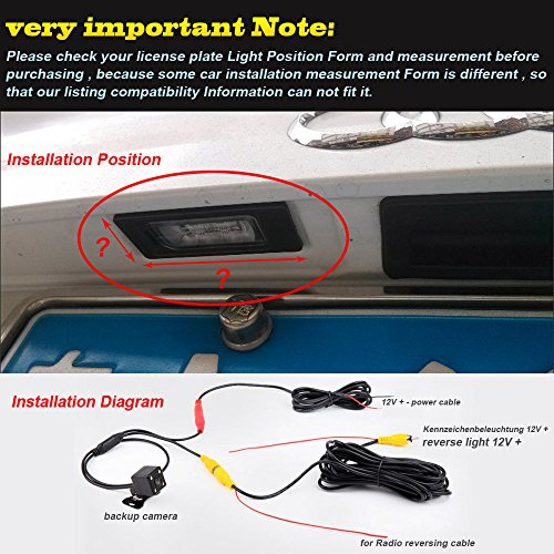 Navinio Waterproof Night Vision HD CCD 170°Viewing Field Car Rear View  Backup Parking Camera for Skoda New beetle VW Polo V 6R Passat CC Golf 6  Golf