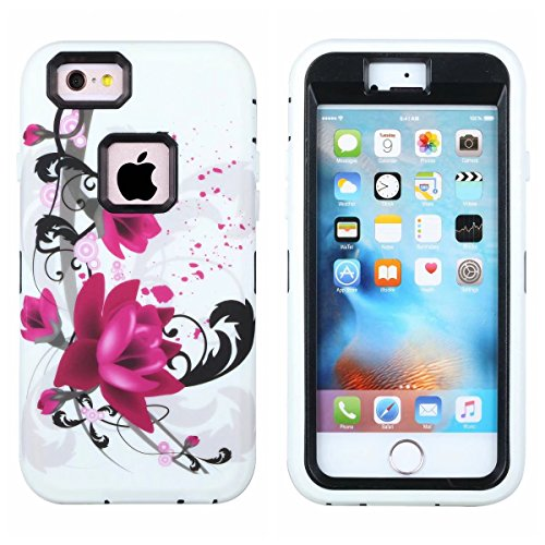designer fashion a106c df9af iPhone 6 Case,iPhone 6s Case,3in1 Shield Series Heavy Duty Hybrid Hard PC  Soft Silicone Combo Hybrid Defender High Impact Body Armor box Case for ...