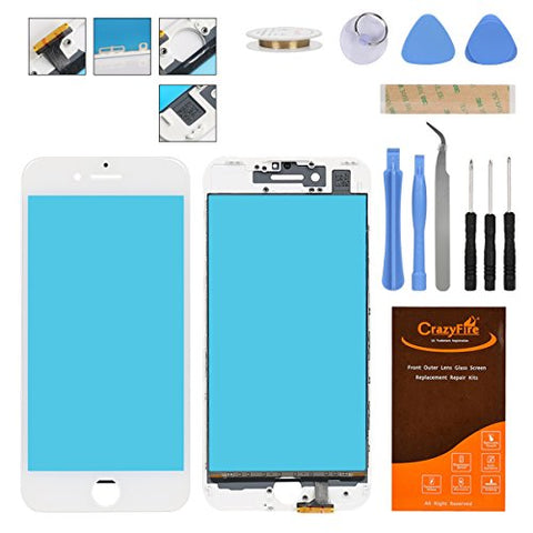 For iPhone 7 Plus Front Outer Screen Touch Panel Replacement with Frame,Repair Tools Kit and Adhesive Tape for iPhone 7 Plus